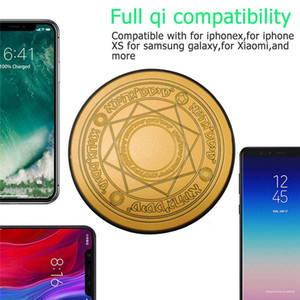 10W Mini chargeur sans fil Tableau magique Cercle Glowing charge Pad pour iPhone XS Max Samsung Huawei Xiaomi Smartphone Universal