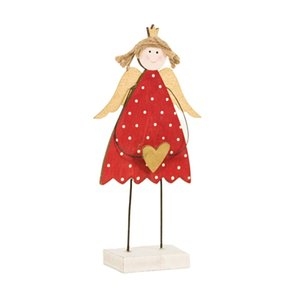Ornamente Painted Love Angel Mädchen Setzen Sie an Weihnachten Holztische Weihnachtsdekoration