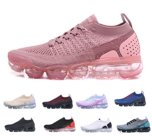 2019 Nike Air max vapormax flyknit 2.0 running shoes Knit 2.0 Fly 1.0 Chaussures de plein air Hommes Femmes BHM Rouge Orbit Métallique Or Triple Noir Maxes Chaussures Baskets Baskets 36-45