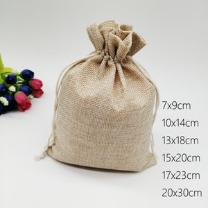 6pcs lot Jute Bags Gift Drawstring Pouch Gift Box Packaging Bags For Gift Linen Bags Jewelry Display Wedding Sack Burlap Bag Diy