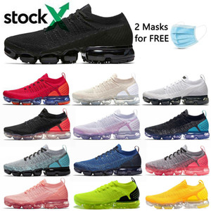 2020 Chaussures Moc 2 laceless 2,0 Running Shoes Triplo preto dos homens Mulheres Sneakers Fly Branco malha Almofada Trainers Zapatos