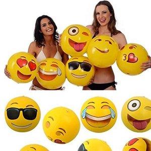 Aufblasbare Wasserbälle Emoji PVC Erwachsene Kinder Aufblasbarer Ball Schwimmbad Im Freien Spielen Strand Spielzeug kostenlos FEDEX TNT