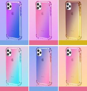 ГОРЯЧАЯ градиент цвета Прозрачный ТПУ противоударный телефон чехол для нового iPhone 11 XR X XS MAX 8 7 6S плюс