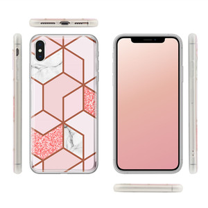 Fashion Shiny IMD Shockproof Sublimation Waterproof Marble Pc Girly Luxury Designer Phone Cases Iphone X XS Pro Max 11 for samsung S9 S10