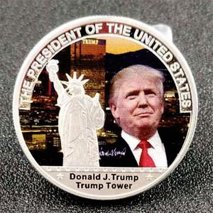 Trump Collection paralar El Trump Konuşma Hatıra Para Amerika Başkanı Trump Amerika Büyük Paraları DHL Ücretsiz Kargo DHC486 tutun