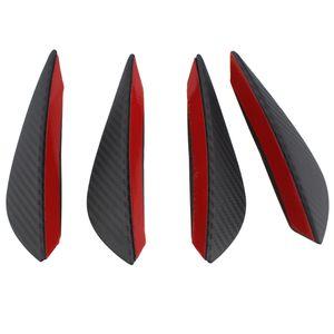 4pcs fibre de carbone couleur Fit pare-chocs avant Lip Splitter Palmes Spoiler corps Valence Chin Canards