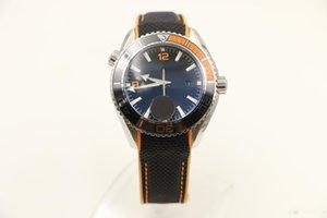 44 millimetri Sport mens degli uomini guarda l'orologio automatico trasparente vetro posteriore O1