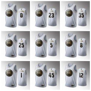 DetroitPistonsMen Derrick Rose White 2019-20 Basketball Jersey Luke Kennard Christian Wood Blake Griffin Langston Galloway Frazier
