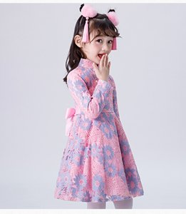 2020 # 001 Осень и зима Новые Крещение платья Детские Детские Одежда Новые Produts Линды Дополнительная Доставка Стоимость Детская Детская Одежда