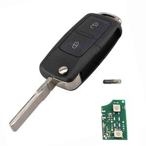 2Buttons 434MHz clé à distance pour SKODA Fabia Superbe Octavia I 2002-2007 Car Key 1J0959753AG 1J0 1Jn 959 753 AG avec ID48 Chip