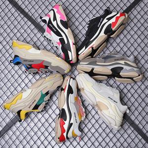 Balenciaga Triple-S shoes Luxury Brand Triple-S 2018 Üçlü S Sneaker Desi Lüks Baba Ayakkabıları erkek Kadın Bej Siyah Spor Rahat Ayakkabılar 36-45