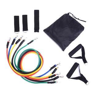Bande di resistenza 11pcs / Set Pull Rope Set Set Elastico Tubo Formazione dispositivo Attrezzatura per il fitness Attrezzature per esercizi