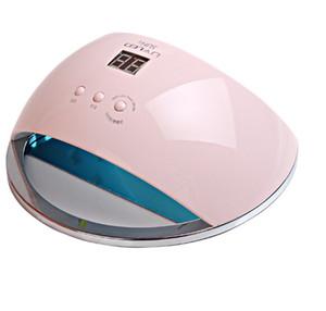 48W SUN6 UV LED 램프 센서 및 LCD 치료와 휴대용 고품질 네일 드럼 UV 네일 젤 네일 도구 uf 램프