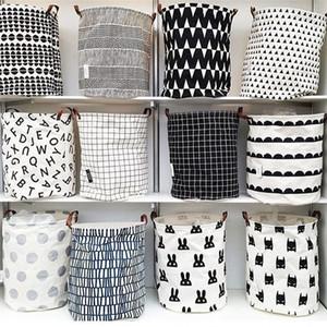 INS lattice letter printing Storage Bags cartoon Handbags Kids Toys,Dirty clothes basket 40*50cm