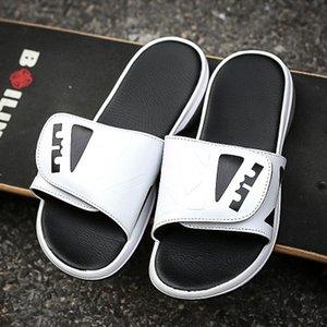 Ifrich 2019 Luxury Mens Тапочки Крытый летний высокого качества мужчин кожаные тапочки резиновые Слайды Черный Белый дом Mens