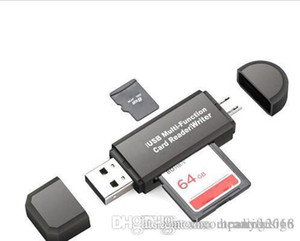 All in One Multi-função Memory Card Reader MINI USB 2.0 OTG Micro SD TF adaptador Reader para PC portátil preto Computador branco