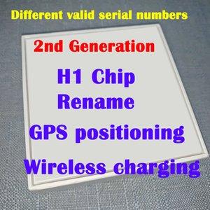 Mais novo chip de alta Air H1 headset Renomeado 2ª Geração de carregamento sem fio Bluetooth fones de ouvido GPS de posicionamento e número de série válido