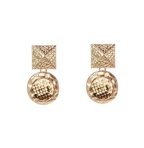 Dvacaman Vintage Diseños Geométricos Pendientes de Gota de Piel de Serpiente para Mujeres 2019 Pendientes Llamativos Pendientes de Metal de Moda Pendiente Joyería Del Partido
