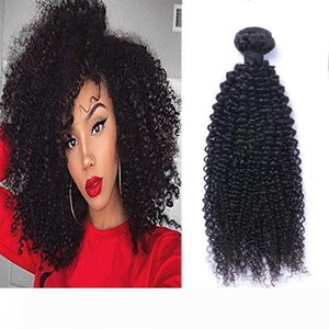 Brazilian Virgin Human Hair Kinky Curly Unprocessed Remy Hair Weaves Double Wefts 100g Bundle Hair Wefts