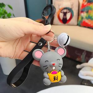 Ratte Maus Keychain Mode Tränke Tierauto Keyfob Tasche Anhänger Schlüsselanhänger Schlüsselanhänger für Frauen-Geschenk