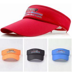 Donald Trump Top Hat 2020 Beyzbol Visors Cap Açık Spor Seyahat Cap Trump Güneşlik Hat 9styles RRA2662 Amerika Yüksek, tutun boşaltın