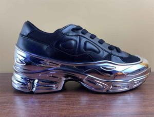 La manera barata para hombre de los zapatos de diseño de espesor inferior RAF peso ligero Ozweego mujeres ocasionales Simons zapatillas de deporte