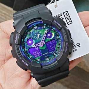 2020 New Arrival Male Watches Multifunction LED Digital Analog Dual Display Display Watch Orologio Di Lusso Camouflage Army Pupils Clock