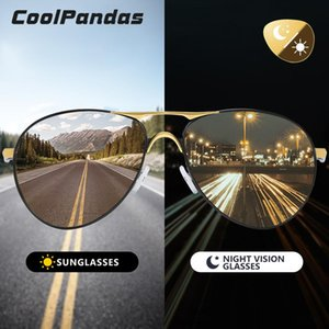 Coolpandas superiore Aviation uomini occhiali da sole polarizzati di guida fotocromatiche Day Night Vision Goggle pilota Occhiali Donne Uv400 HkcMu