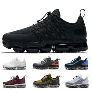 Nike air max vapormax 2019 New Men Designer Utility Running Shoes Medium Olive Burgundy Crush Hombres Zapatillas de deporte Fashion Run UTILITY Sports Sneakers size us 7-11