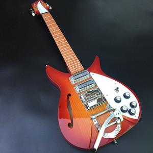 20-Cheery 햇살 ricken 325 일렉트릭 기타, 품질 보증, 메이플 기타 헤드 및 알더 바디 S 구멍, 무료 배송!