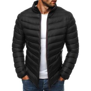 ZOGAA 2019 d'hiver Hommes Parkas Guys Garçons Réchauffez Casual manches longues Puffer Parkas Manteau Homme Solid Slim Zipper Manteau Simple