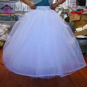 저렴한 페티코트 속치마 4 층 NO 후프 그물 페티코트 웨딩 드레스 볼 가운 A 라인 크리 놀린 성인식 드레스 웨딩 액세서리