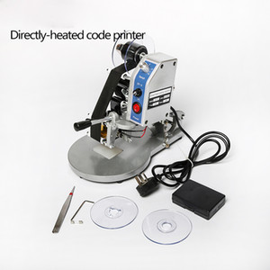 Ücretsiz Kargo DHL! DY-8 Şerit direkt ısı türü kodu Baskı Makinası Manuel Son Kullanma Tarihi Kod Yazıcı Sıcak Foll Damga Kodlayıcı
