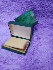 Nouvelle boîte de montre de luxe à vendre à chaud Vert Haute Qualité Homme Watch Box Watchbox avec carte de brochure adaptée au produit de la série ROL