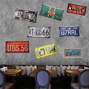 15 * 30cm Nordic estilo retro metal Placas de lata Pintura Plaque Pub Motorcycle License Plate Poster For Recados Bar Início Garage