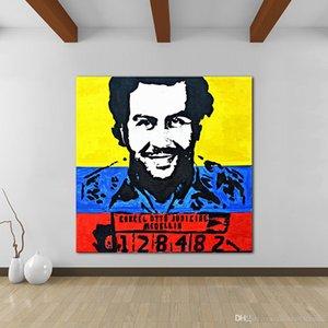 Va. Высокое качество расписанную HD Печать Современные абстрактные Pop Art Картина маслом Pablo Escobar Nicole Gavin Портрет на холсте стены искусства Офис декабрь