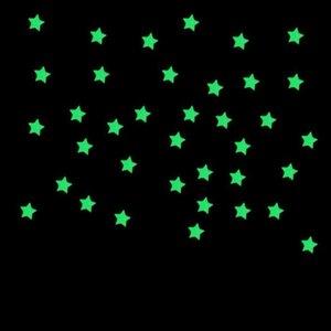 3D 2 # Tofok فقاعة 100pcs التي نجوم نقاط مضيئة الجدار ملصق اليدويه نوم غرفة الاطفال مائي يتوهج في الظلام نيون الديكور المنزلي