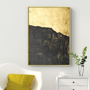 Living room decoration painting modern light luxury gold plate Abstract various sizes to choose from gold frame