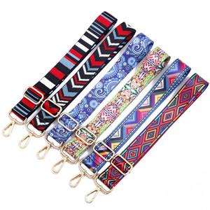 Cinturón de Nylon de color Bolsas Accesorios de Correa para Mujeres Arco Iris Ajustable Hombro Hanger Bolso Correas Decorativas Mango Adorno