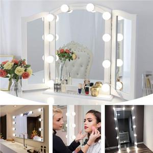 Hollywood Style LED Miroir de courtoisie Lumières Kit Dimmable Ampoules, appareils d'éclairage bande pour le maquillage Coiffeuse Situé dans Dressing