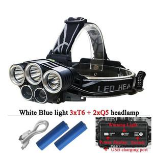 5 CREE LED-Scheinwerfer XM L T6 Q5 Scheinwerfer 15000 Lumen führten Scheinwerferlager Wanderung Notlicht Angeln Outdoor-Ausrüstung