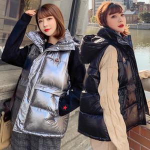 Invierno Nueva ropa del algodón del chaleco de las mujeres de Corea del párrafo corto de alta calidad floja ocasional de la manera F035 chaqueta salvaje temperamento