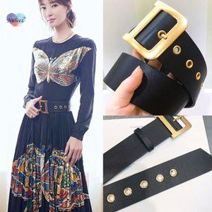 les femmes de ceinture Nuleez D cuivre doré décoration ceinture solide pour robe et costume grande taille et mince pour choisir