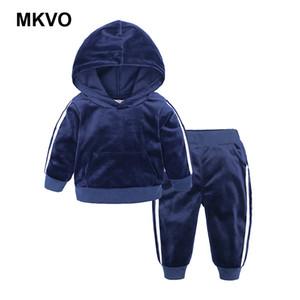Desgaste de los niños, niñas y niñas, primavera y deportes de otoño, terciopelo, con capucha, con capucha, con capucha, conjuntos de manga larga.