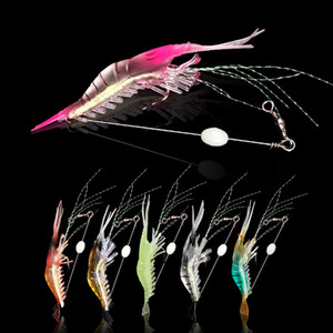 90mm Soft Bait Prawn 6.5g with Rolling Swivel Shaped Lure Hook Bait Bionic Artificial Shrimp Lures