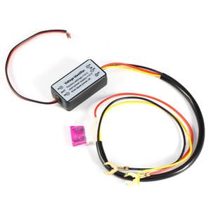 2XDRL Controlador Auto Car LED Luzes de Circulação Diurna Controlador de Relé Harness DimHarness Dimmer On / Off 12-18 V Fog Light Controlador