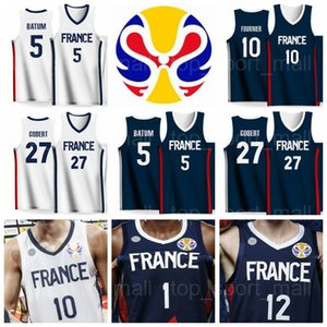 2019 Dünya Kupası Takım Ulusal Basketbol Formaları Evan FOURNIER 10 Frank NTILIKINA 1 Nicolas BATUM 5 Rudy GOBERT 27 Nando DE COLO Amath MBAYE