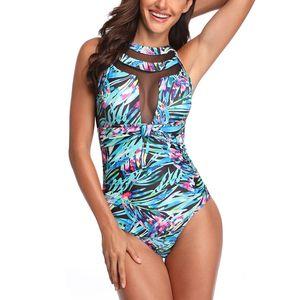 Women Monokini Bandage Swimsuit Bathers Summer Swimwear Printed One-Piece Suits Brazilian Bikini 2020 Bathing Suit Hot Sale