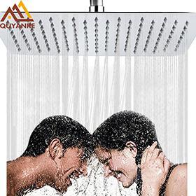 20 인치 크롬 강수 샤워 헤드 Ultrathin Rain Shower Head 욕실 천장 마운트 Stainless Stell 샤워 꼭지