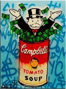 Wall Art Decor Home pintado à mão HD Imprimir Pintura Alec Monopoly Banksy óleo sobre Soup 191008 da lona Graffiti Art Campbell